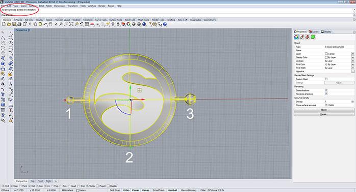 rhino solid part step 1 - مدل های Rhino: طراحی یک فایل سه بعدی قابل چاپ