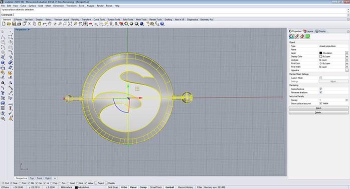 rhino solid part step 2 - مدل های Rhino: طراحی یک فایل سه بعدی قابل چاپ
