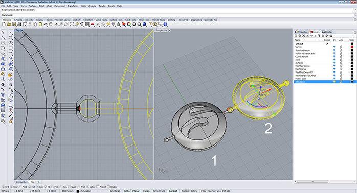 rhino solid part step 3 - مدل های Rhino: طراحی یک فایل سه بعدی قابل چاپ