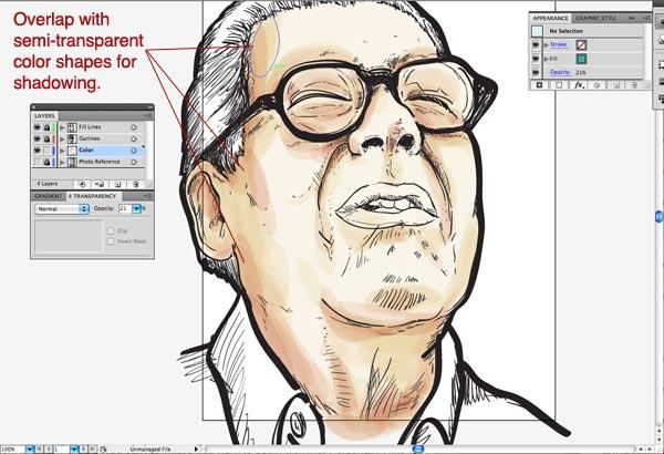 step10 1 Make Watercolor  Marker Style Portraits with Illustrator - ساخت تصاویر چهره با سبک ماژیک و آبرنگ با استفاده از Illustrator