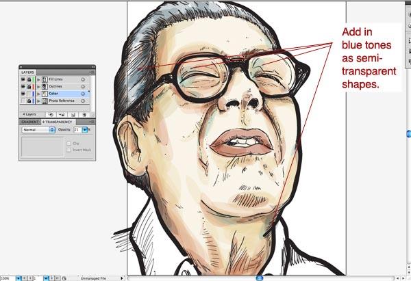 step10 2 Make Watercolor  Marker Style Portraits with Illustrator - ساخت تصاویر چهره با سبک ماژیک و آبرنگ با استفاده از Illustrator