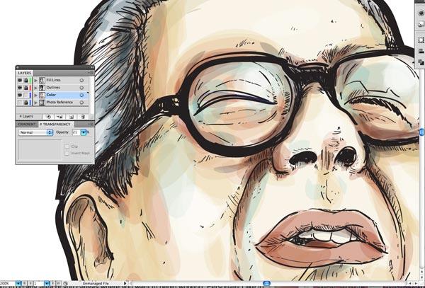 step10 3 Make Watercolor  Marker Style Portraits with Illustrator - ساخت تصاویر چهره با سبک ماژیک و آبرنگ با استفاده از Illustrator