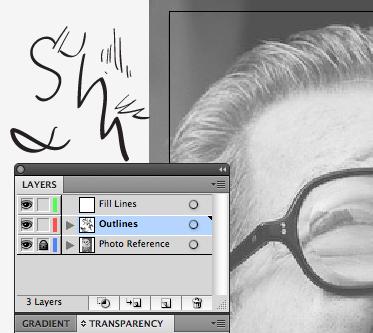 step4 8 Make Watercolor  Marker Style Portraits with Illustrator - ساخت تصاویر چهره با سبک ماژیک و آبرنگ با استفاده از Illustrator