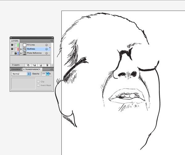 step5 4 Make Watercolor  Marker Style Portraits with Illustrator - ساخت تصاویر چهره با سبک ماژیک و آبرنگ با استفاده از Illustrator