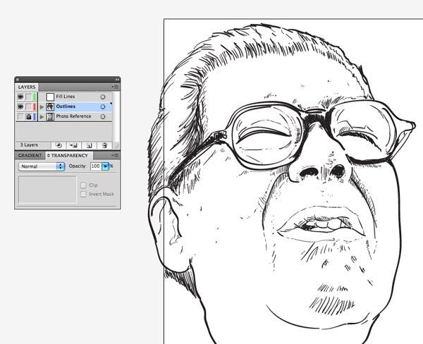 step5 6 Make Watercolor  Marker Style Portraits with Illustrator - ساخت تصاویر چهره با سبک ماژیک و آبرنگ با استفاده از Illustrator