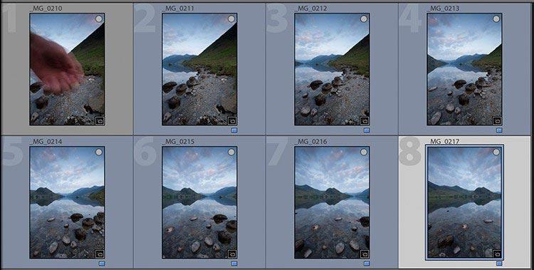 Create a system to differentiate sequences in Lightroom - 21 نکته برای کمک به شما برای عکاسی پانوراما بهتر