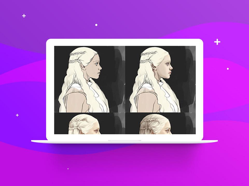 Detailing  digital painting - نقاشی دیجیتال با فتوشاپ تکنیکها، ترفندها و آموزشها