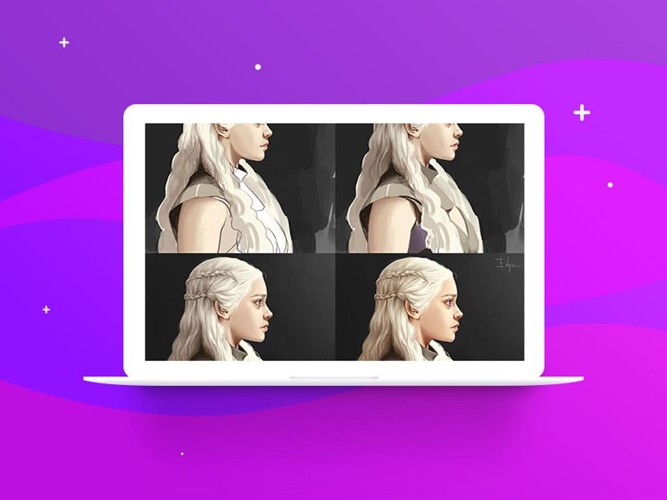 Detailing  digital painting 2 - نقاشی دیجیتال با فتوشاپ : تکنیکها، ترفندها و آموزشها