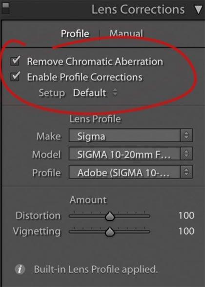Do Lens Corrections Chromatic - 21 نکته برای کمک به شما برای عکاسی پانوراما بهتر