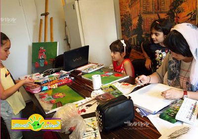 naghashi kids class pouyaandish - آموزشگاه پویا اندیش - مرکز آموزش های تخصصی هنر