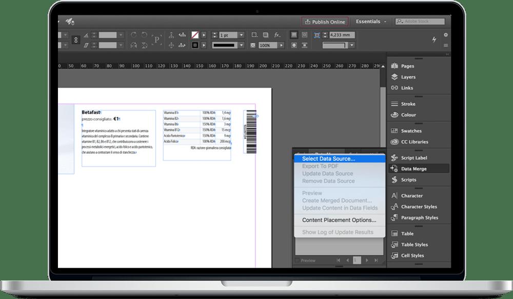 Data Merge InDesign 9 - ادغام داده ها یا data merge در ایندیزاین : یک آموزش سریع