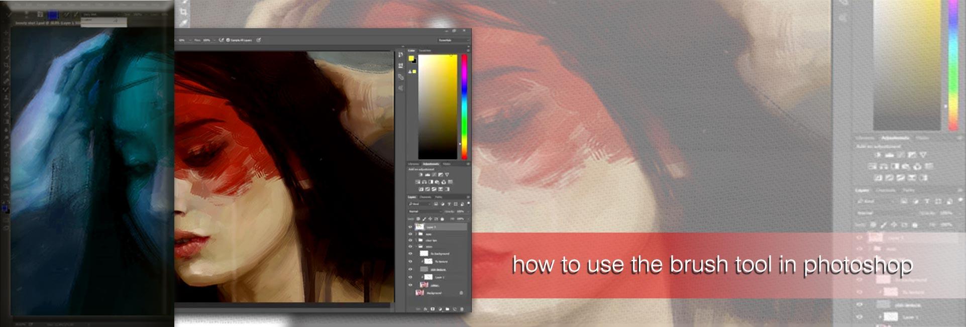 brush tool  photoshop1 - چگونه از ابزار براش در فتوشاپ استفاده کنیم