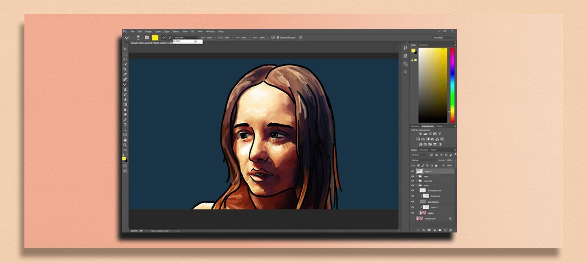 brush tool  photoshop3 1 - چگونه از ابزار براش در فتوشاپ استفاده کنیم