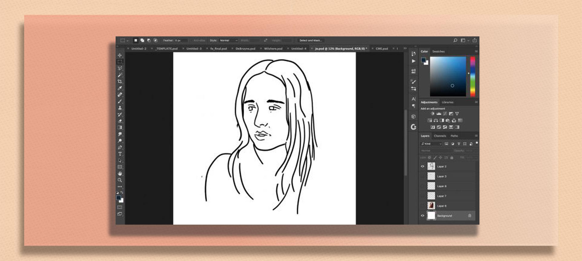 brush tool  photoshop4 - چگونه از ابزار براش در فتوشاپ استفاده کنیم