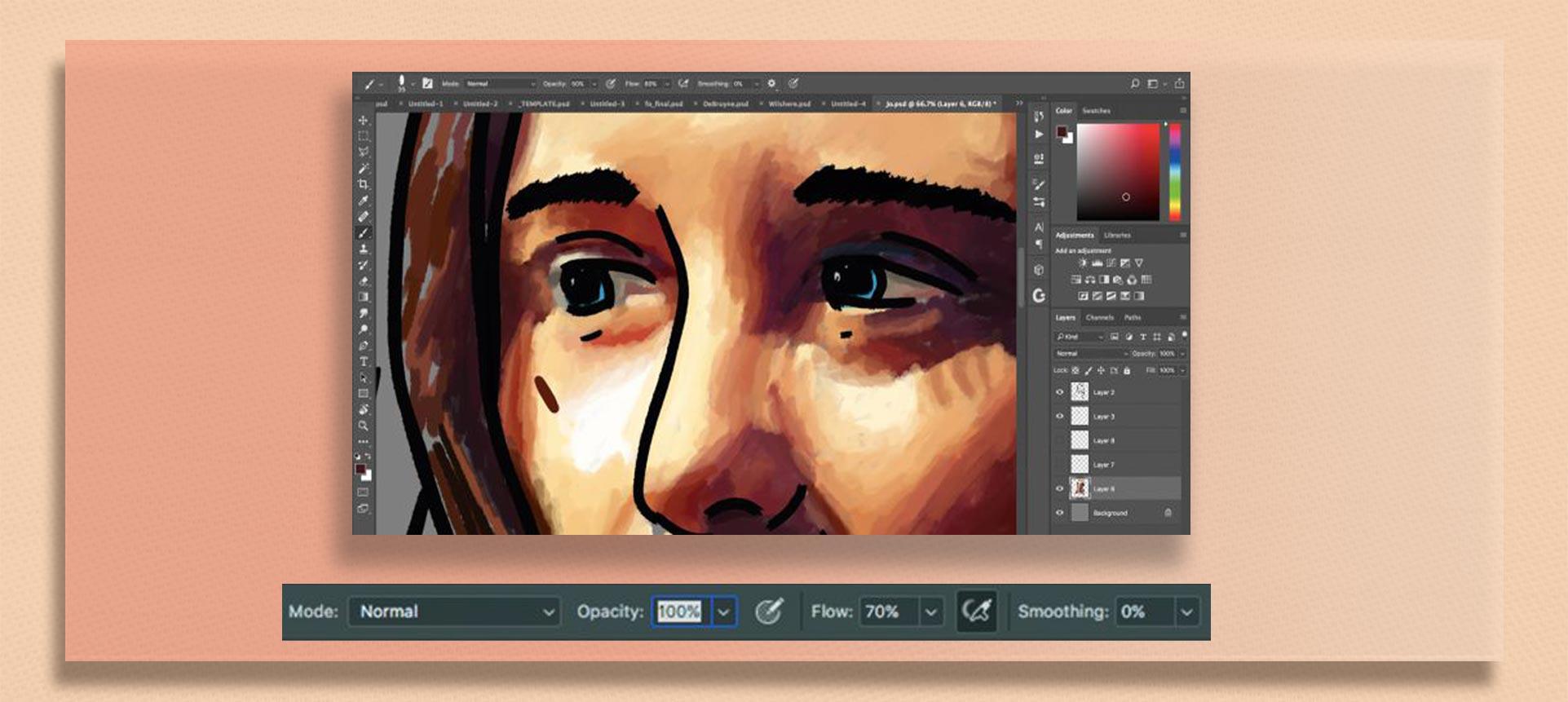 brush tool  photoshop6 - چگونه از ابزار براش در فتوشاپ استفاده کنیم