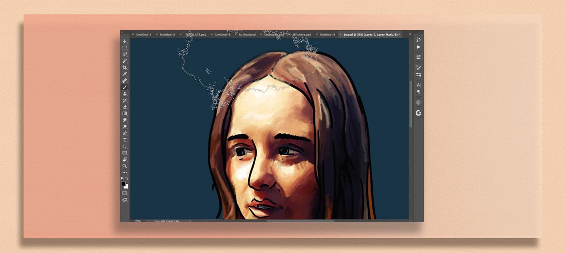 brush tool  photoshop7 - چگونه از ابزار براش در فتوشاپ استفاده کنیم