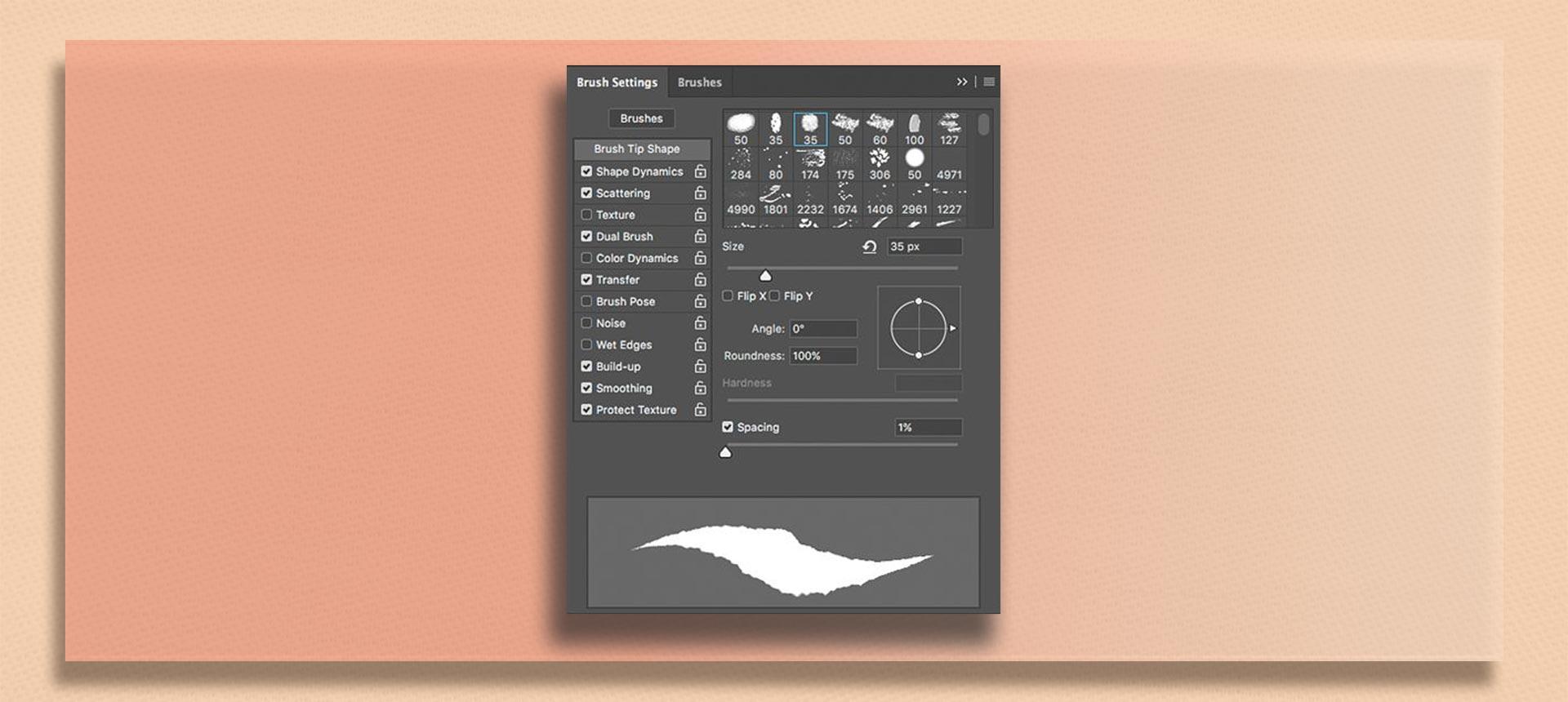 brush tool  photoshop9 - چگونه از ابزار براش در فتوشاپ استفاده کنیم