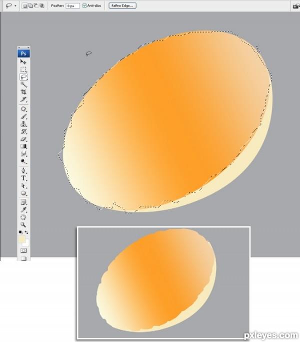 photoshop egg 10 - آموزش ساخت تخم مرغ در فتوشاپ