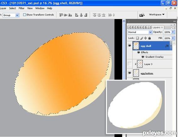 photoshop egg 12 - آموزش ساخت تخم مرغ در فتوشاپ