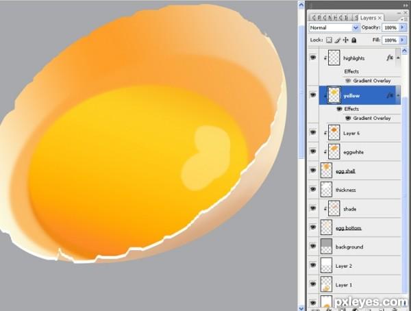 photoshop egg 23 - آموزش ساخت تخم مرغ در فتوشاپ