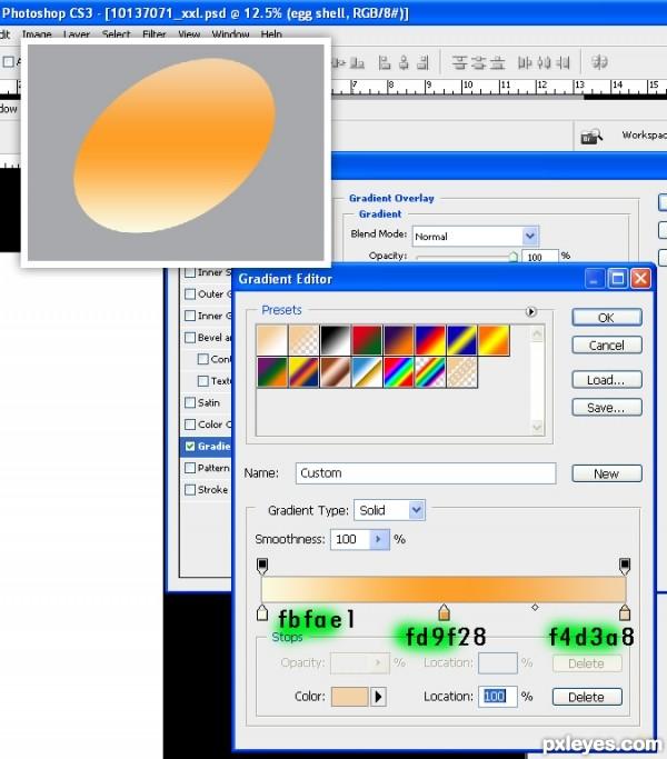 photoshop egg 6 - آموزش ساخت تخم مرغ در فتوشاپ