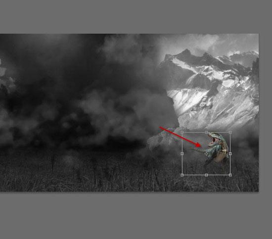 pouyaandish photoshop dainasor24 - ساخت نقاشی دیجیتالی در فوتوشاپ : « انقراض دایناسورها»