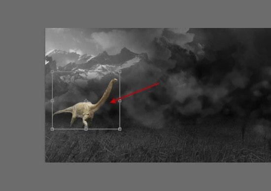 pouyaandish photoshop dainasor28 - ساخت نقاشی دیجیتالی در فوتوشاپ : « انقراض دایناسورها»