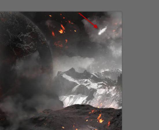 pouyaandish photoshop dainasor47 - ساخت نقاشی دیجیتالی در فوتوشاپ : « انقراض دایناسورها»