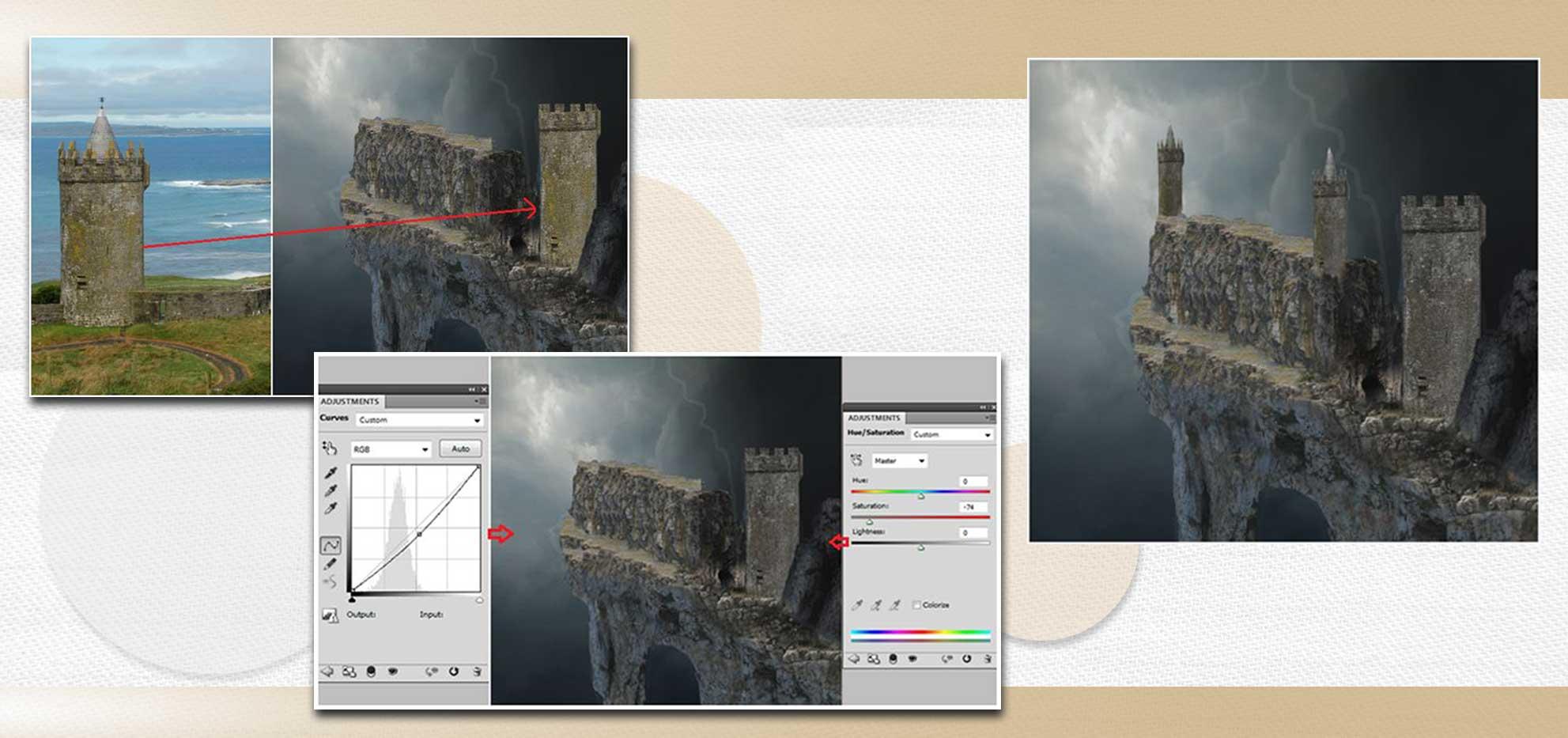 sakhte ghalee 10 - آموزش تصویری ساخت قلعه در فتوشاپ