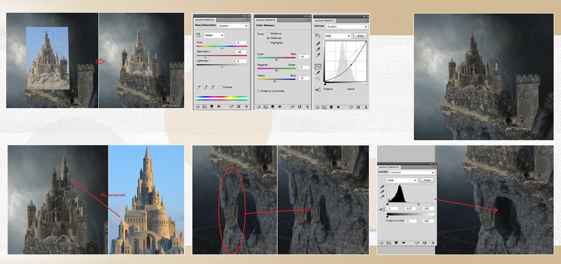 sakhte ghalee 11 - آموزش تصویری ساخت قلعه در فتوشاپ