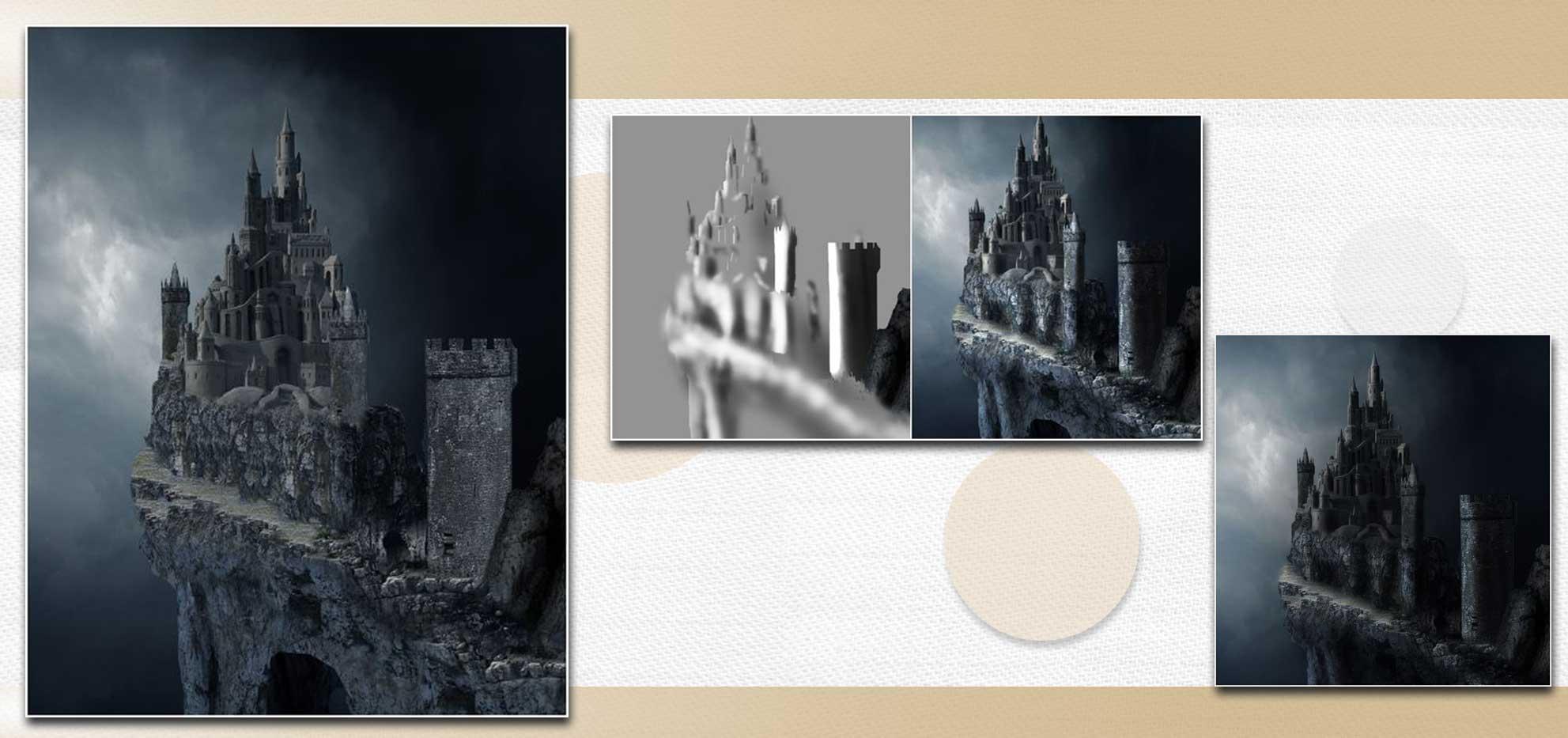 sakhte ghalee 13 - آموزش تصویری ساخت قلعه در فتوشاپ