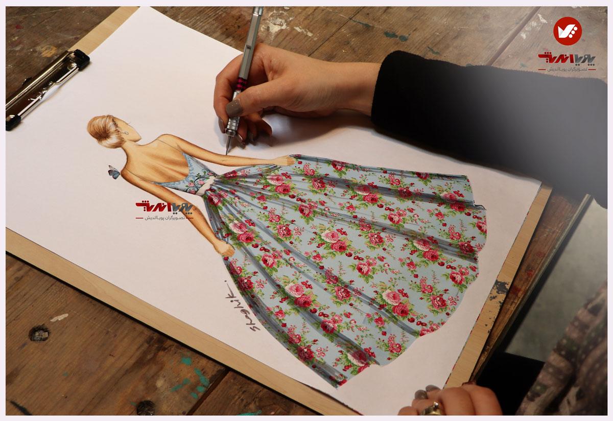 tarahilebas 37 dress - آموزش طراحی لباس