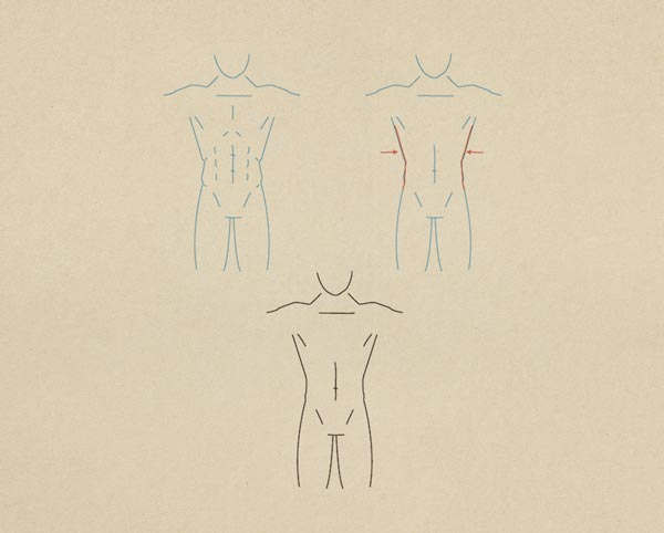 Step11 Athletic Figure Male - روش طراحی بدن زن و مرد برای طراحی لباس