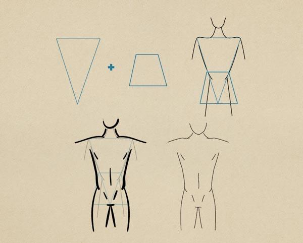 Step12 Toned Figure Male - روش طراحی بدن زن و مرد برای طراحی لباس