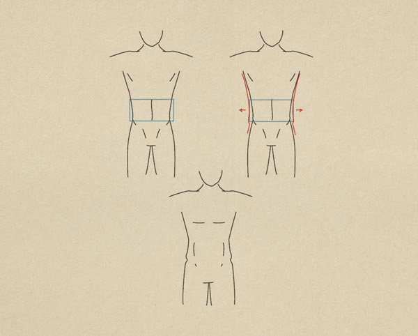 Step13 Smooth Figure Male - روش طراحی بدن زن و مرد برای طراحی لباس