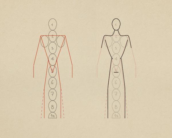 Step2  Body Base Arms Legs - روش طراحی بدن زن و مرد برای طراحی لباس