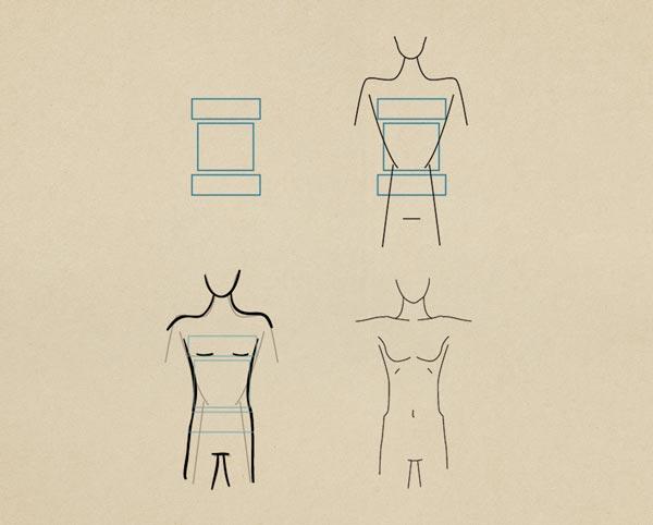 Step3 Slim Figure Female - روش طراحی بدن زن و مرد برای طراحی لباس