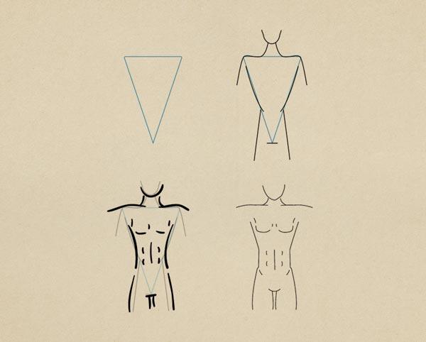Step4  Athletic Figure Female - روش طراحی بدن زن و مرد برای طراحی لباس