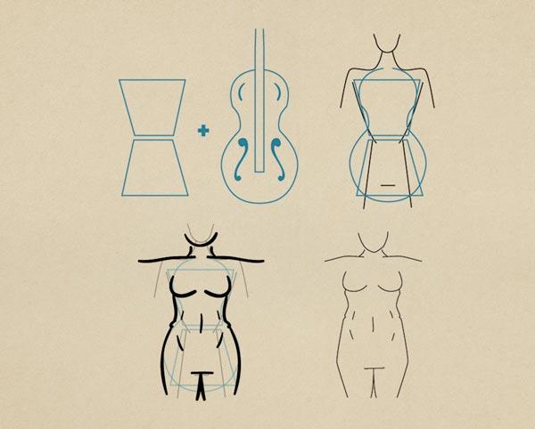 Step8  Voluptuous Figure Female - روش طراحی بدن زن و مرد برای طراحی لباس