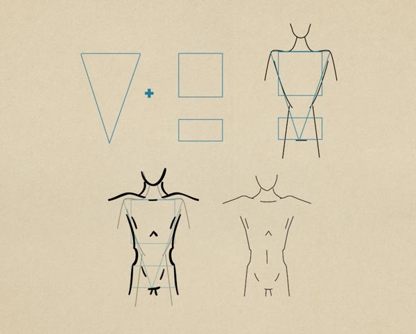 Step9 Slim Figure Male - روش طراحی بدن زن و مرد برای طراحی لباس