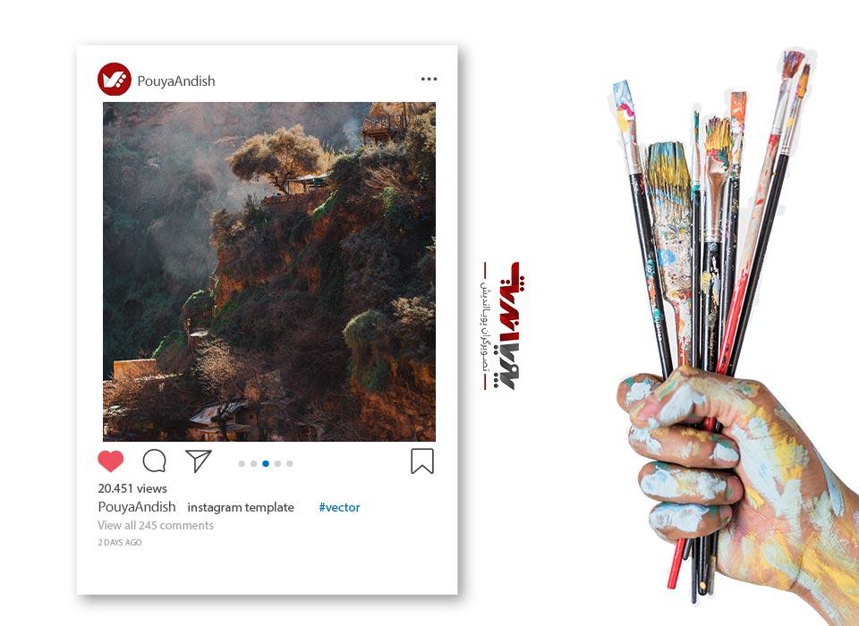 instagram and art 2jpg - چگونه به عنوان یک هنرمند کسب درآمد در اینستاگرام داشته باشیم