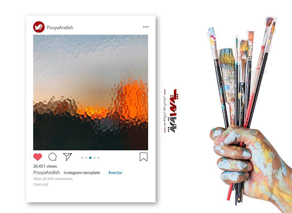instagram and art painting - چگونه به عنوان یک هنرمند کسب درآمد در اینستاگرام داشته باشیم