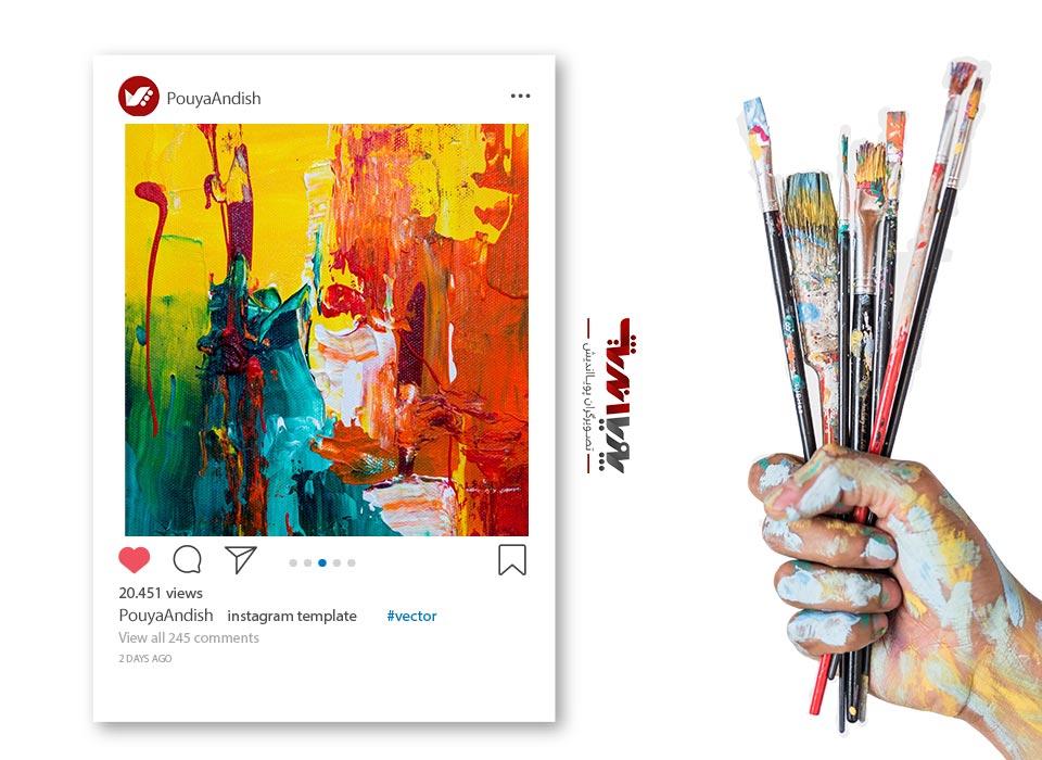 instagram and art painting 2 - چگونه به عنوان یک هنرمند کسب درآمد در اینستاگرام داشته باشیم