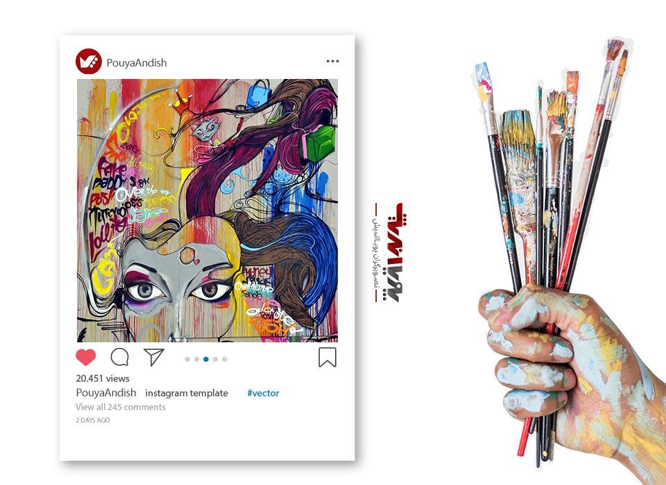instagram and art painting 4 - چگونه به عنوان یک هنرمند کسب درآمد در اینستاگرام داشته باشیم