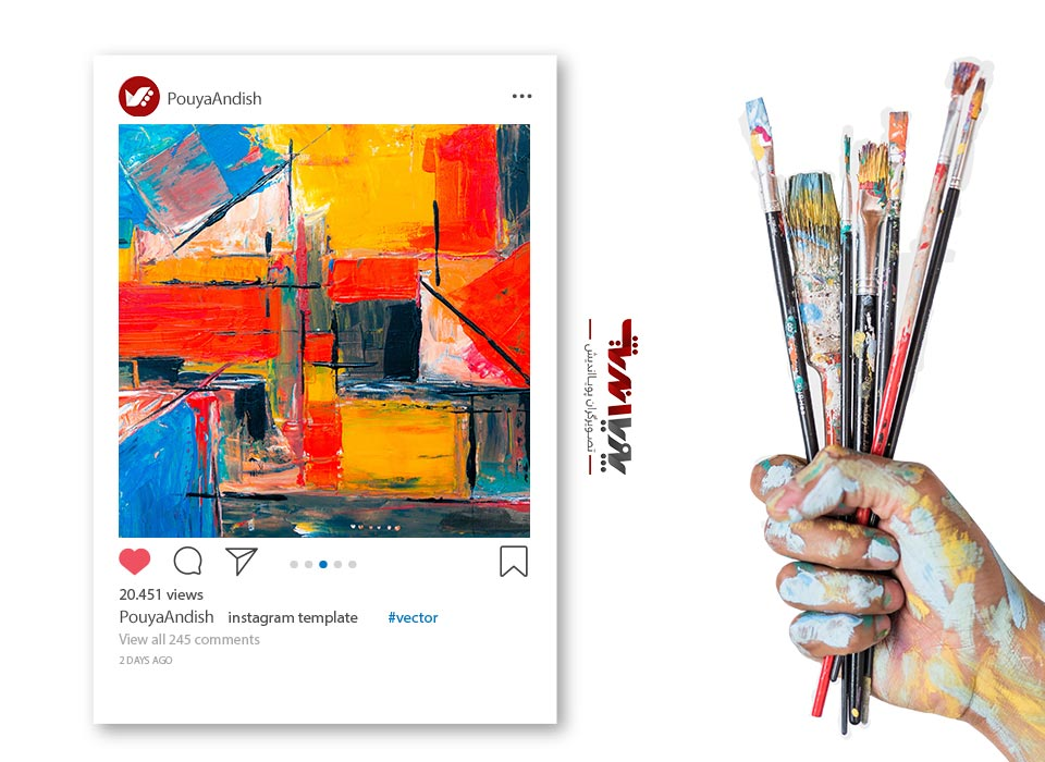 instagram and art painting 6 - چگونه به عنوان یک هنرمند کسب درآمد در اینستاگرام داشته باشیم