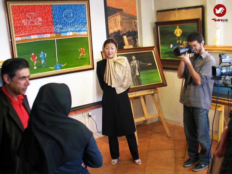 afshin ghotbi 1 - نمایشگاه آثار هنری همسر افشین قطبی ( یوروم ) در پویا اندیش