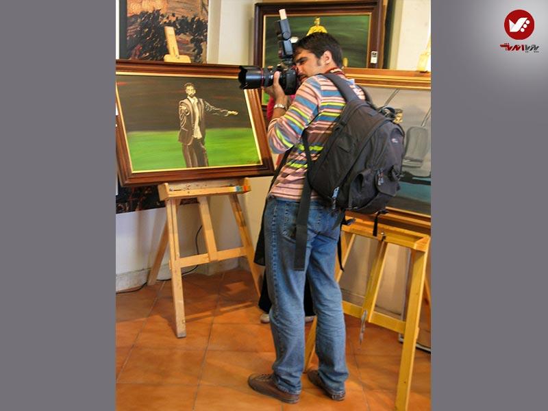 hamshahri - نمایشگاه آثار هنری همسر افشین قطبی ( یوروم ) در پویا اندیش