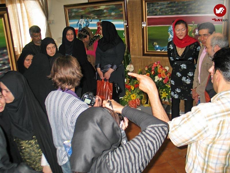 pouyaandish 14 - نمایشگاه آثار هنری همسر افشین قطبی ( یوروم ) در پویا اندیش