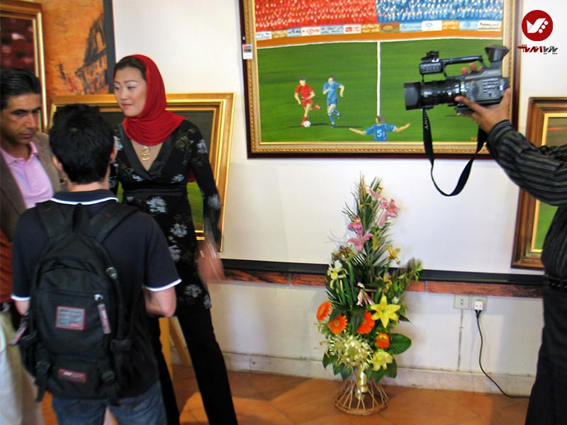 pouyaandish 2 - نمایشگاه آثار هنری همسر افشین قطبی ( یوروم ) در پویا اندیش