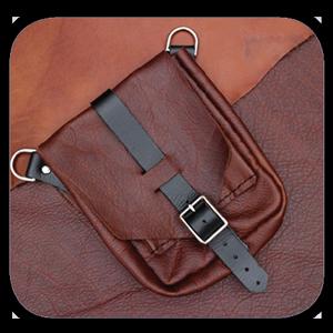 handmade leather bag kif charm dastsaz pouyaandish tasvir shakhes - معرق چرم